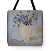 Cornflowers Oil Modern Paintings Tote Bag