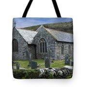 Cornish Seascape St Winwaloe Church Tote Bag