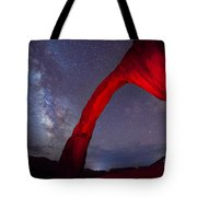 Corona Arch Milk Way Red Light Tote Bag