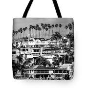 Corona Del Mar California Black And White Picture Tote Bag