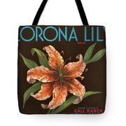 Corona Lily Crate Label Tote Bag