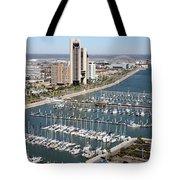 Corpus Christi Marina Aerial Tote Bag