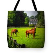 Corralled Horses - Featured In And Lets All Participate And Abc Groups Tote Bag