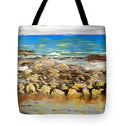 Corrimal Beach Near Towradgi Rook Pool Tote Bag