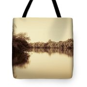 Corroboree Billabong In Sepia Tote Bag