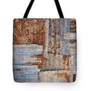 Corrugated Iron Background Tote Bag