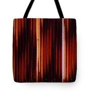 Corrugated Patterns In Orange And Black Tote Bag
