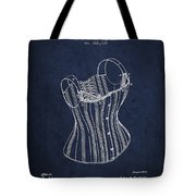 Corset Patent From 1882 - Navy Blue Tote Bag