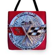 Corvette 25th Anniversary Emblem 1 Tote Bag