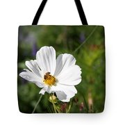 Cosmea And Bee Tote Bag