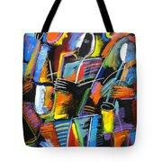 Cosmic Birth Of Jazz Tote Bag