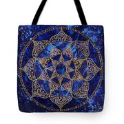 Cosmic Blue Lotus Tote Bag
