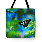 Cosmic Butterfly In The Pines Tote Bag