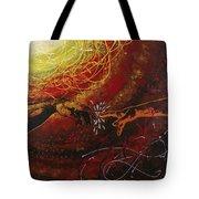 Cosmic Contact Tote Bag