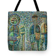 Cosmic Creation Of Adam And Eve Tote Bag