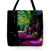 Cosmic Energy Of A Redwood Forest On Mt Tamalpais Tote Bag