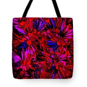 Cosmic Flower Wall Tote Bag