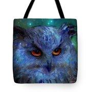 Cosmic Owl Painting Tote Bag
