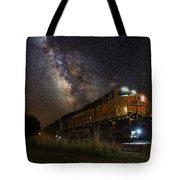 Cosmic Railroad Tote Bag