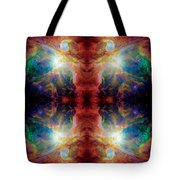 Cosmic Spine Deep Space Reflection Tote Bag