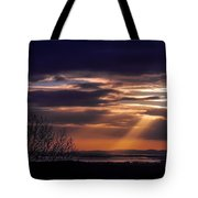 Cosmic Spotlight On Shannon Airport Tote Bag