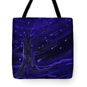 Cosmic Tree Blue Tote Bag