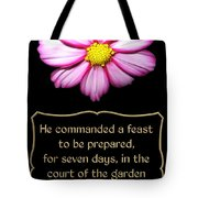 Cosmos Flower With Bible Quote From Esther Tote Bag