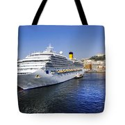Costa Cruise Ship Tote Bag