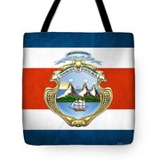 Costa Rica Coat Of Arms And Flag  Tote Bag