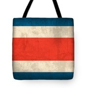 Costa Rica Flag Vintage Distressed Finish Tote Bag