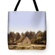 Cottage And Splitrail Fence Tote Bag