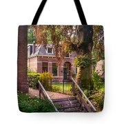 Cottage At The Church In Giethoorn. Netherlands Tote Bag
