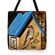 Cottage Birdhouse-back Tote Bag