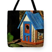 Cottage Birdhouse Tote Bag