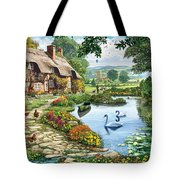 Cottage By The Lake Tote Bag