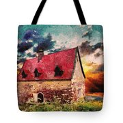 Cottage By The Sea - Abstract Realism Tote Bag
