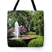 Cottage Garden Fountain Tote Bag