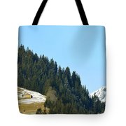 Cottage In Alps Tote Bag