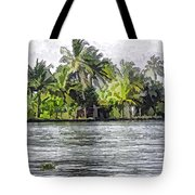 Cottage In The Midst Of Greenery Tote Bag