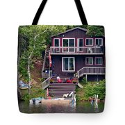 Cottage On The Water Tote Bag