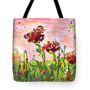 Cotton Candy Flowers Tote Bag