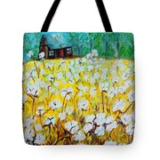 Cotton Fields Back Home Tote Bag by Eloise Schneider