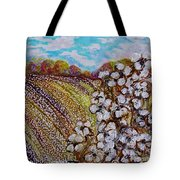 Cotton Fields In Autumn Tote Bag