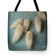 Cottontails On Blue Tote Bag