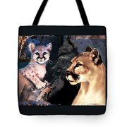 Cougar And Babe Tote Bag