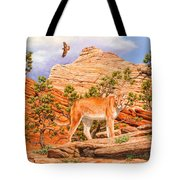 Cougar - Don't Move Tote Bag by Crista Forest