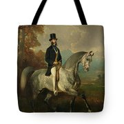 Count Alfred De Montgomery 1810-91 1850-60 Oil On Canvas Tote Bag