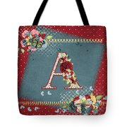 Country Charm Monogramed A Tote Bag