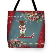 Country Charm Monogramed L Tote Bag