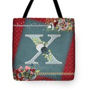 Country Charm Monogramed X Tote Bag